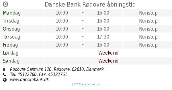 danske bank rødovre kontakt
