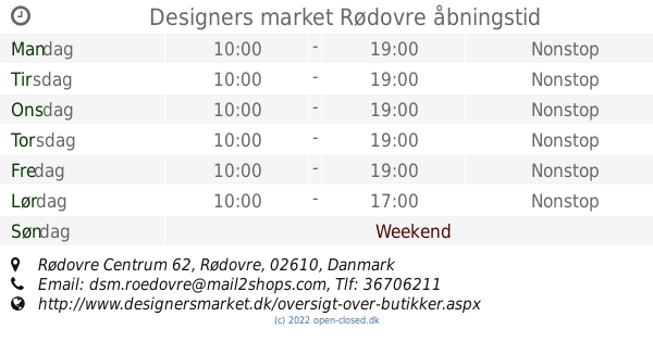 designers market rødovre