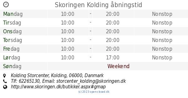 7903825c468 Skoringen Kolding åbningstid, Kolding Storcenter