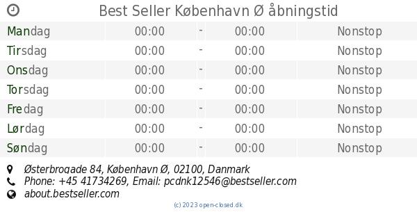d4fbf1c4d6cd Best Seller København Ø åbningstid