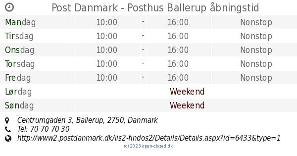 post danmark ballerup