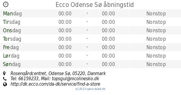 Ecco Odense Sø åbningstid, Rosengårdcentret