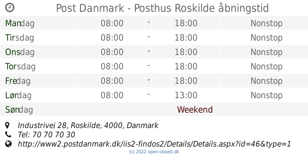 post nord roskilde