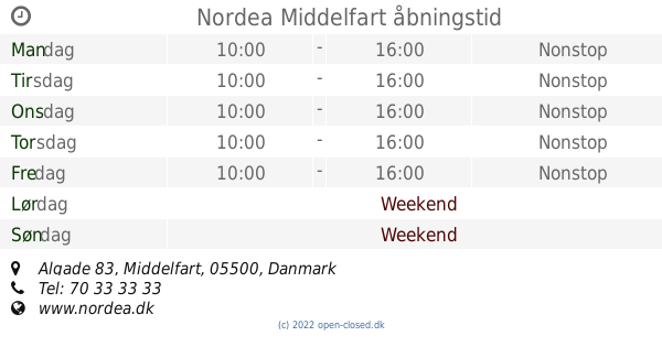 nordea bank middelfart