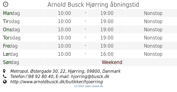 arnold busck hjørring