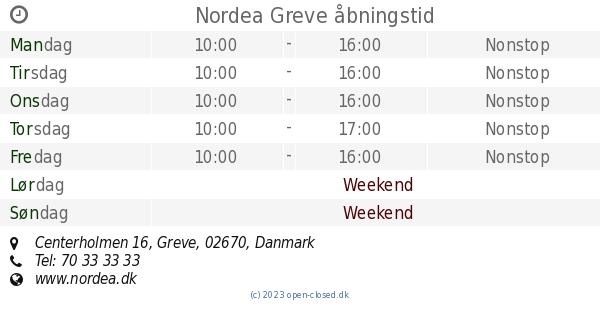 nordea bank greve afdeling
