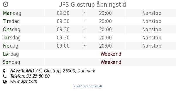 ups danmark glostrup