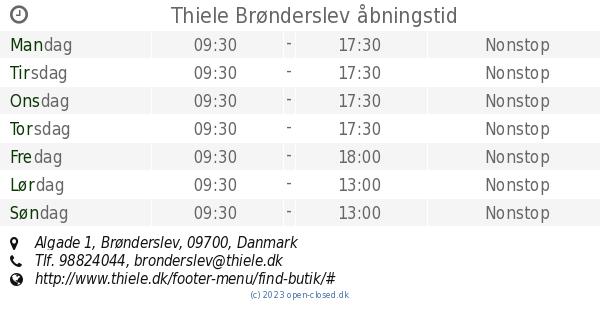 76cf66245b5 Brønderslev butikker åbningstider