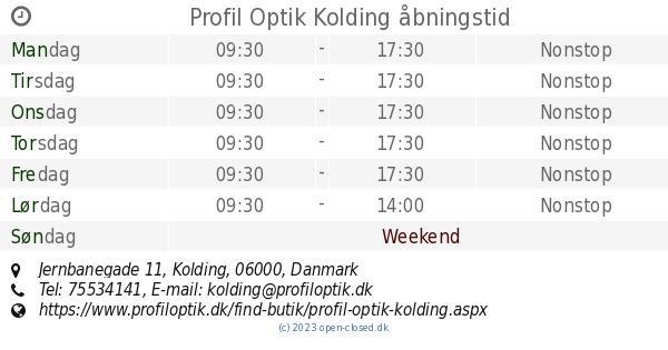 885ba650bfc3 Profil Optik Kolding åbningstid